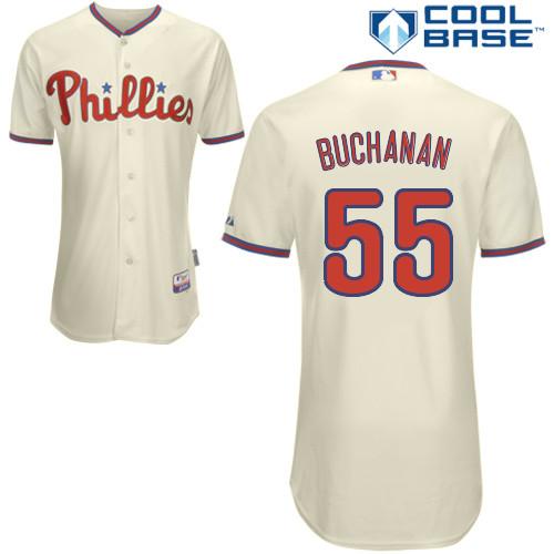 release date 01b1c ebac1 David Buchanan #55 mlb Jersey-Philadelphia Phillies Women's ...