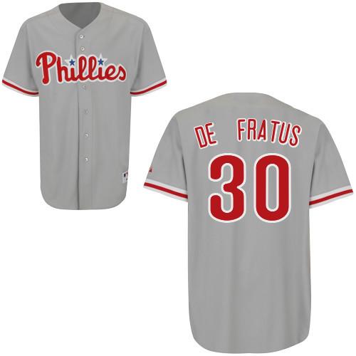 Justin De Fratus  30 mlb Jersey-Philadelphia Phillies Women s Authentic  Road Gray Cool Base c79843a6b