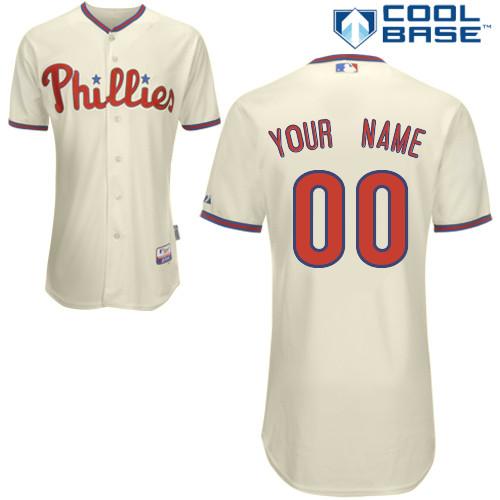 Customized Philadelphia Phillies MLB Jersey-Men s Authentic Alternate White  Cool Base Home Baseball Jersey dcbde93a1d1f
